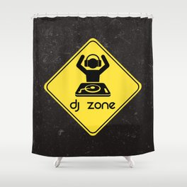 DJ Zone Rave Quote Shower Curtain