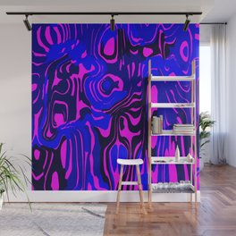 Cloudy flowing spots of calm colors with blue. Wall Mural