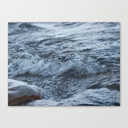 Stormy shore Canvas Print