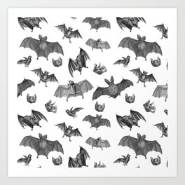 Batty Bats Art Print