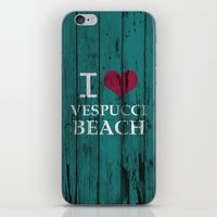 grand theft auto iPhone & iPod Skins featuring Los Santos I love Vespucci Beach Grand Theft Auto by KeenaKorn