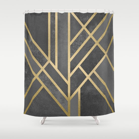 Art Deco Geometry 1 Shower Curtain By Elisabeth