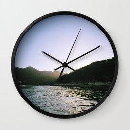 Hong Kong Sunset Wall Clock