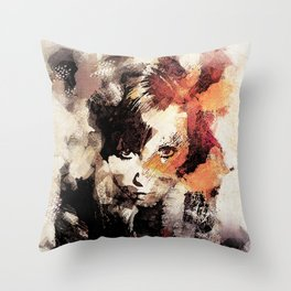 Bandwagon Abstract Portrait Throw Pillow