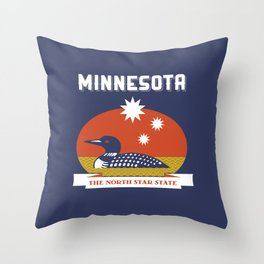 Minnesota - Redesigning The States Series Throw Pillow