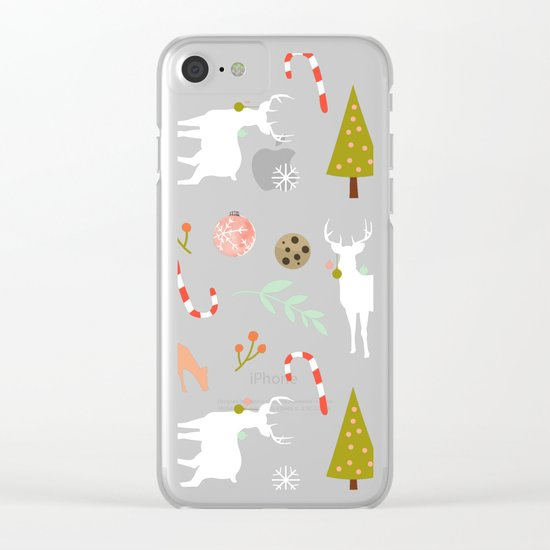 Christmas Spirit #society6 #decor #buyart Clear iPhone Case