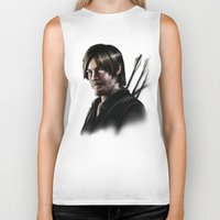 daryl dixon Biker Tanks featuring Daryl Dixon by Angelo Quintero