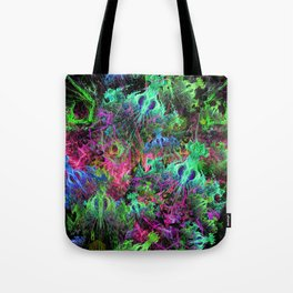 Alien Dragonfly Orchid Colony Tote Bag