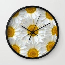 Daisies Galore Wall Clock