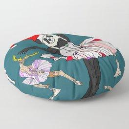 Hipster Holiday Ballerinas Floor Pillow