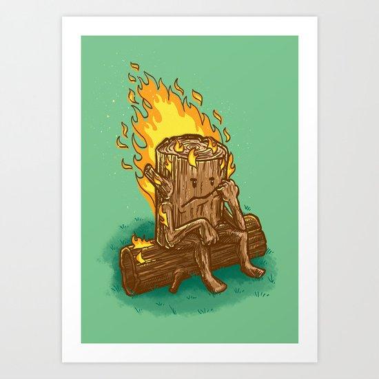Bad Day Log Art Print