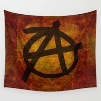 anarchy Wall Tapestries featuring Distressed Anarchy by Bruce Stanfield