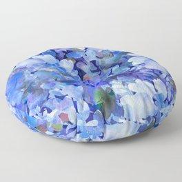 Wild Blue Rose Garden Floor Pillow