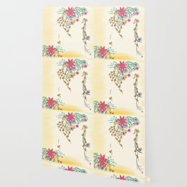 Vibrant Floral to Floral Wallpaper