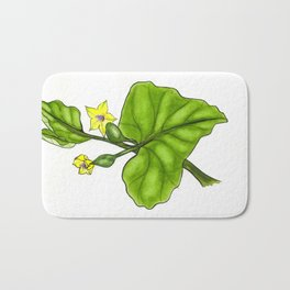 Cucumber Blooms Bath Mat