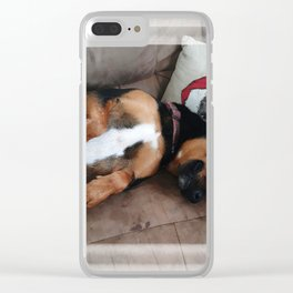 Firo is our family dog. He has a long history for one so young! Clear iPhone Case