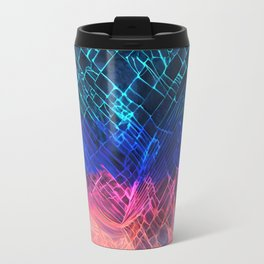 Rainbow neon light Cracked out Glass pattern iPhone, ipod, ipad, pillow case and tshirt Travel Mug