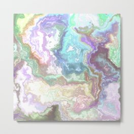 Abstract Marble Texture 474 Metal Print