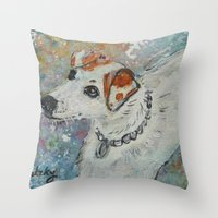 virginia Throw Pillows featuring Virginia by gretzky