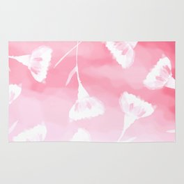 Pink Breeze Flowers Rug