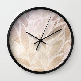 Brownie leaves Wall Clock
