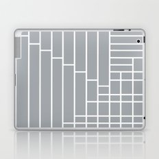 Fuzz Outline Grey Laptop & iPad Skin
