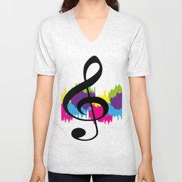 Treble Colour Unisex V-Neck