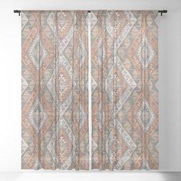 Kilim - earthy Sheer Curtain