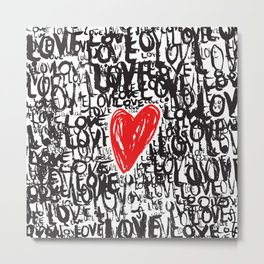 The Love Concept Metal Print