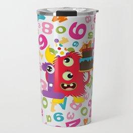 Birthday Monster 1st Birthday Travel Mug