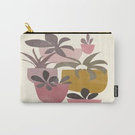 Succulents in Terracotta Carry-All Pouch
