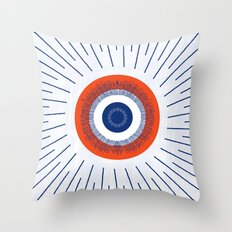 Eye Think Too Much Throw Pillow
