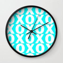 XOXO - Aqua Pattern Wall Clock