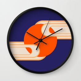 Party Cloudy Skies Wall Clock