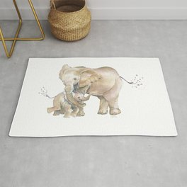 Mother's Love - Elephant Family Rug