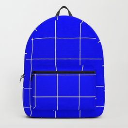 Graph Paper (White & Blue Pattern) Backpack