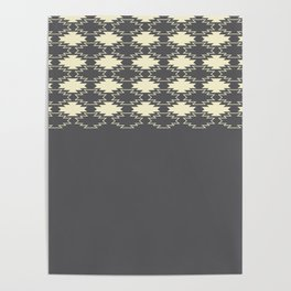 Gray Native Pattern Poster