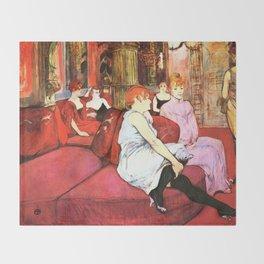 """Henri de Toulouse-Lautrec """"Au Salon de la rue des Moulins"""" Throw Blanket"""