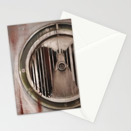 (Marlboro Red bar-code) silhouette of lungs against ball bearing  Stationery Cards