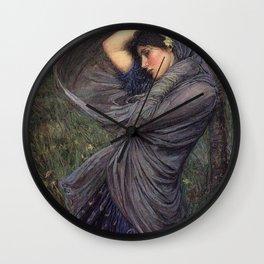 John William Waterhouse Boreas 1903 Wall Clock