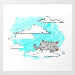 Sky Cat Art Print