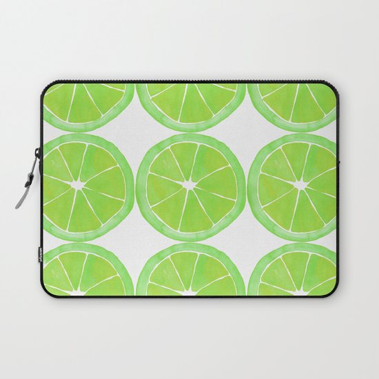Pattern of Limes in Watercolor by emmalula