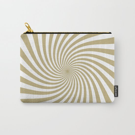 Swirl (Sand/White) Carry-All Pouch