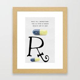 Magic Pill Rx Framed Art Print