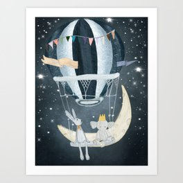 wish upon a star Art Print