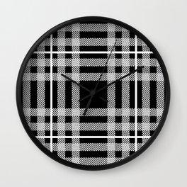 Black and White Plaid Wall Clock