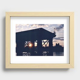 Greenwich Sunset (2) Recessed Framed Print