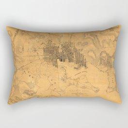 Map of Baltimore 1845 Rectangular Pillow