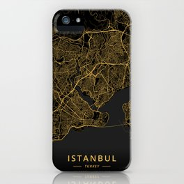 Istanbul, Turkey - Gold iPhone Case