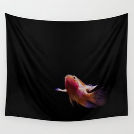 the flight of the red goldfish Wall Tapestry